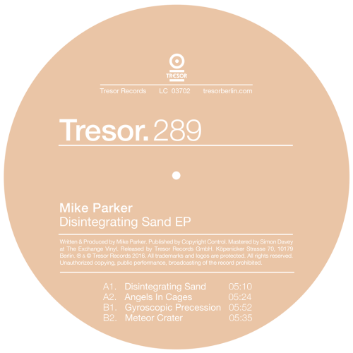 Mike Parker makes his debut to Tresor Records