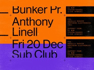 Bunker presents Anthony Linell – December 2019